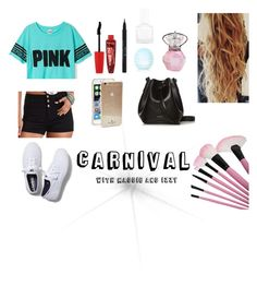 """Carnival"" by cookiesforliam ❤ liked on Polyvore featuring Charlotte Russe, Stila, Eos, Topshop, tenoverten, Rimmel, Rachael Ruddick, Keds and Kate Spade"