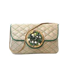 Bhamini Brocade Clutch with Shaded Stone Brooch (Green). Theytasmotittuhp · Evening  Bags Silver 45fbffd04b75f