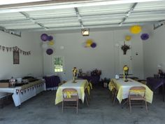 party in the garage   Garage party decorations. An option for aubrey's bday party (winter ...