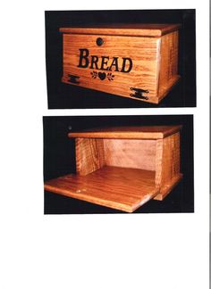 Oak Wooden Bread Box