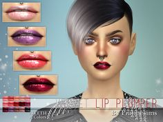 The Sims Resource: Velvet Lip Plumper N21 by Pralinesims • Sims 4 Downloads