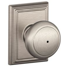 View the Schlage F40-AND-ADD Privacy Andover Door Knobset with the Decorative Addison Rose at Build.com.