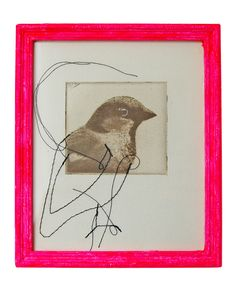 bird via all the luck in the world-blog - I love the idea of starting with a picture and finishing with stitching or even pencil