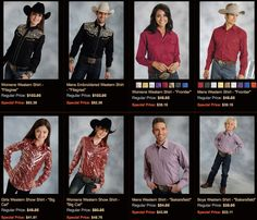 Matching shirts for the whole family. Perfect for holiday pictures!!  http://www.westernshirts.com/matching-western-shirts?limit=all