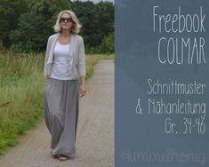 Freebook Damen Maxirock Colmar (Gr. 34-46) – Hummelhonig