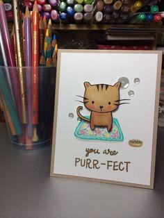 Hero Arts cat stamp.