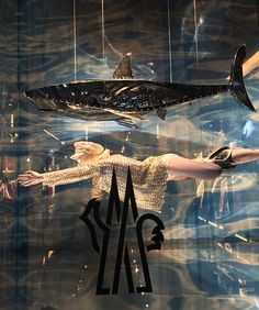 "MONCLER, Soho, New York, ""RELAX........she is snorkeling"",photo by  Mizhattan, pinned by Ton van der Veer"