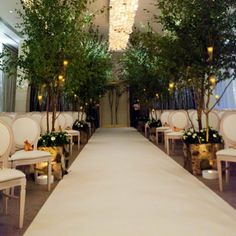 A cream carpet for your ceremony reflects the light upwards and adds a touch of luxe