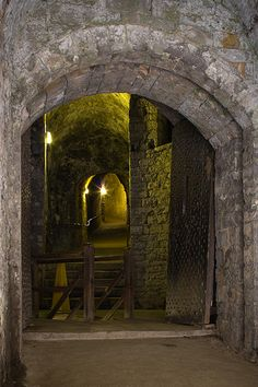 Dover Castle tunnels, Kent, UK  Visit www.exploreuktravel.co.uk for holidays in England
