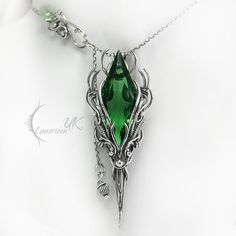 APSINTUQ - silver and green quartz by LUNARIEEN.deviantart.com on @deviantART
