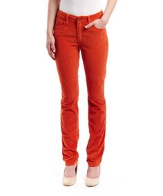 This Spice Corduroy Mustang Sally Straight-Leg Jeans by LNO jeans is perfect! #zulilyfinds