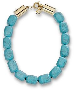 Michael Kors Michael Large Bead Turquoise Necklace