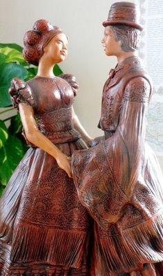 A MAGYAROK TUDÁSA: A TÁNC - A MAGYAR NÉPTÁNCOK Hungary, Victorian, Wood Carving, Amazing, Dresses, Life, Style, Fashion, Vestidos