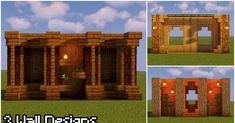 Minecraft House Plans, Minecraft Cottage, Easy Minecraft Houses, Minecraft Blueprints, Minecraft Crafts, Minecraft Buildings, Minecraft Stuff, Minecraft Wall Designs, Minecraft Interior Design