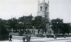 Essex Road at Marquess Road and St Paul's church, Islington, 1905