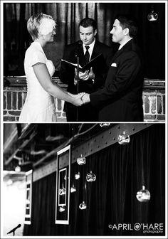 Wedding decor at a wedding ceremony at Mile High Station in Denver, CO | April O'Hare Photography #MileHighStation #DenverWedding