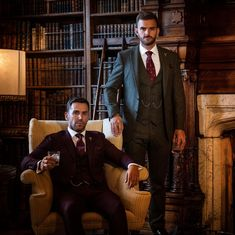 @whitfieldandward posted to Instagram: AUTUMN WINTER WEDDING INSPIRATION - a forrest green suit or rich burgundy suit creates a dramatic look for an Autumn/Winter wedding.  If you're considering a bespoke suit for an Autumn/Winter wedding we'd recommend that you come and see us soon.  Call to book your bespoke appointment ☎ 01625 536545 😎  Image @jonnydraperphotography Models @danny_clifford @oli_the_choc ___________________________________________  #weddingsuit #menssuits #
