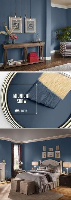 Fall in love with BEHR's color of the month Midn&; Fall in love with BEHR's color of the month Midn&; Roche Bobois unpebgled bedroom paint colors ideas Fall in love […] room colors neutral Dark Blue Bedroom Walls, Dark Blue Walls, Bedroom Wall Colors, Paint Colors For Living Room, Paint Colors For Home, House Colors, Bedroom Ideas, Paint Colours, Bedroom Neutral