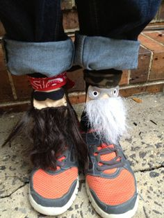 Crazy Sock Day creation...Duck Dynasty...sort of :)