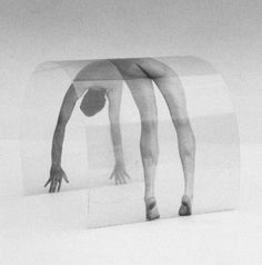 Nico Kok. Conceptual Wors. Curved Picture, 1992. Picture printed on transperent foil, curved. Website
