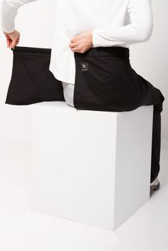 Straight Leg Chinos Wrap Waist - Navy