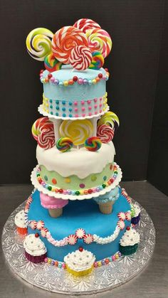This Massive Crazy Cake is bursting with color