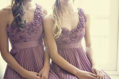 pretty dresses. love the purple.