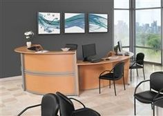 OFM Marque Reception Desk Station with ADA Desk Ships Free! OFM Marque ADA Desk Meets the American Disabilities Act Guidelines for Wheelchair Access