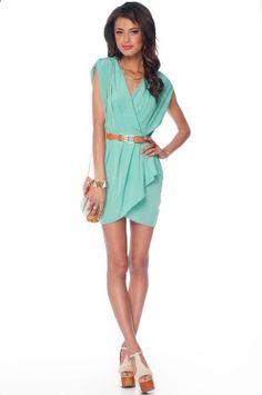 mint layered dress