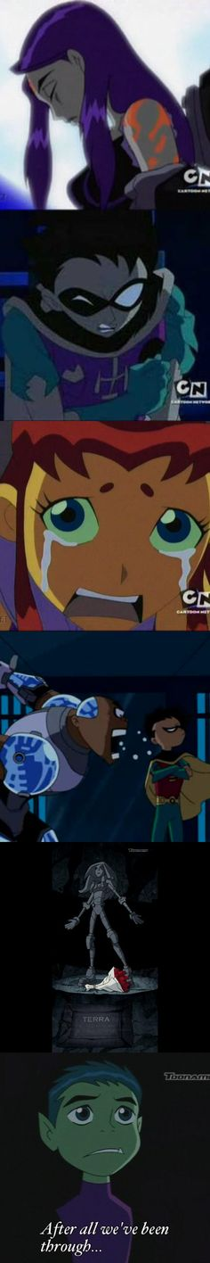 At least finish the story line! They totally left Beast Boy and us hanging...