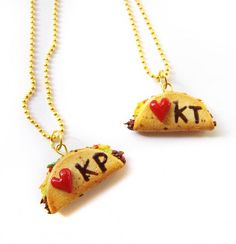 Best friend necklaces for the duo that goes together like chips and guac. #etsyfinds