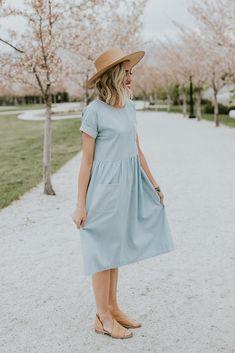 Denim summer dress | ROOLEE