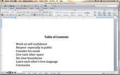 How to Make a Table of Contents in Microsoft Word