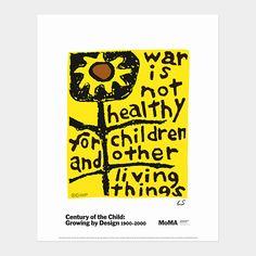 War is Not Heathy for Children and Other Living Things by Lorraine Schneider #Illustration #Lorraine_Schneider