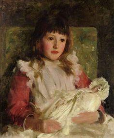 Portrait of Molly Dalrymple, 1891 - Henry Scott Tuke (British, 1858-1929)