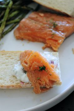 Sous vide smoked salmon - Velvetty, Rich, and Simple - and a sous vide hack so no need for expensive equipment! Healthy Dinner Recipes, Gourmet Recipes, Appetizer Recipes, Real Food Recipes, Breakfast Recipes, Cooking Recipes, Appetizers, Healthy Food, What's Cooking