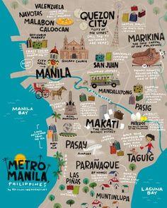 Metro Manila, Philippines Art Print by wedgienet Voyage Philippines, Philippines Culture, Philippines Travel, Philippines Tattoo, Philippines Destinations, Philippines People, Siargao Philippines, Visit Philippines, Bohol