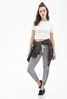 Cotton Fleece #Drawstring #Sweatpants | FOREVER21 - 2055879625