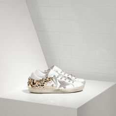 Golden Goose Super Star Sneakers In Leather With Suede Star Women - Golden Goose… #goldengoose #sneakers #leather #women #fashion