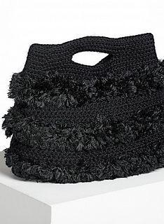 825 - Handbag pattern by Bergère de France : What's not to love in this pretty faux fur handbag? Crochet Clutch, Crochet Handbags, Crochet Purses, Crochet Hooks, Knit Crochet, Crochet Shell Stitch, Fur Bag, Macrame Bag, Purse Patterns