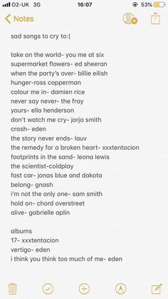 music quotes spotify playlist by naomi foster (sti - quotes Playlist Names Ideas, Love Songs Playlist, Spotify Playlist, Road Trip Playlist, Summer Playlist, Heartbreak Songs, Breakup Songs, Music Mood, Mood Songs