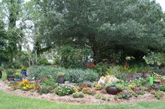 Pretty Colorful Flower Bed.