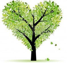 Clip Art Vector of Valentine tree, love, leaf from hearts cs... - Polyvore
