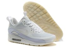 Mens Nike Air Max 90 Mid White Trainers UK