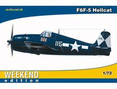 The Eduard Grumman F6F-5 Hellcat Weekend Edition in 1/72 scale from the plastic aircraft model range accurately recreates the real life American fighter aircraft built during World War II. This plastic aircraft kit requires paint and glue to complete.