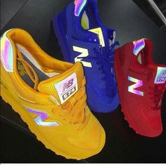 pinterest : K #128081; ❤ Shoe Closet, Nike Balance, New Balance Red, New Balance Shoes, Kicks Shoes, Lit Shoes, Nike Kicks, Yellow Shoes, Perfectly Imperfect
