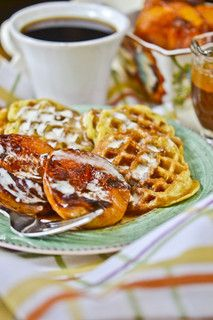 Gluten-free Toasted Coconut Waffles with maple cream- I would ...