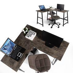 Shop Black Friday Deals on Carbon Loft Angband L-shaped Corner Computer Desk with Shelf - Overstock - 29204463 Computer Desk With Shelves, Desk Shelves, Desk Storage, Home Office, Basement Office, L Shaped Executive Desk, Space Saving Desk, New Interior Design, Brown Furniture