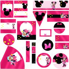 Pin Para Imprimir Minnie Mouse De Rosa Dibujos On Pinterest Minnie Mouse, Homecoming Hairstyles, Angry Birds, Diy, Kids Rugs, Short Hair, Dining Room, Studio, Decor