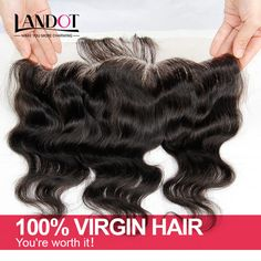"""Find More Lace Frontal Information about  Lace Closure Brazilian Frontal 13x4 Virgin Frontal Piece Body Wave Ear to Ear Full Lace 8"""" 22"""" Brazilian Closure Free Shipping,High Quality closure piece,China closure clip Suppliers, Cheap closure hair from Landot Hair Products Co., Ltd. on Aliexpress.com"""